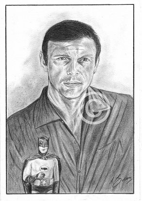 Adam West Pencil Portrait