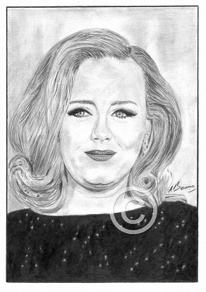 Adele Pencil Portrait