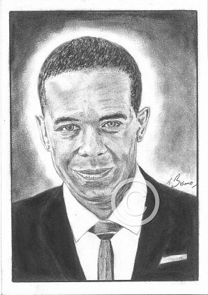 Adrian Lester Pencil Portrait