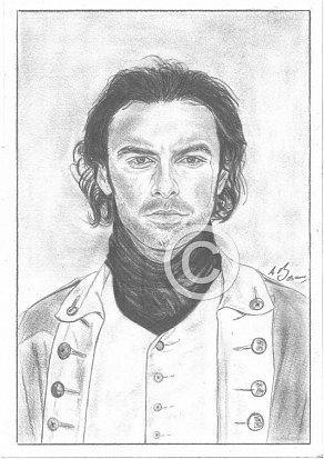 Aidan Turner Pencil Portrait