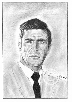 Alan Bates Pencil Portrait