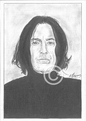 Alan Rickman Pencil Portrait