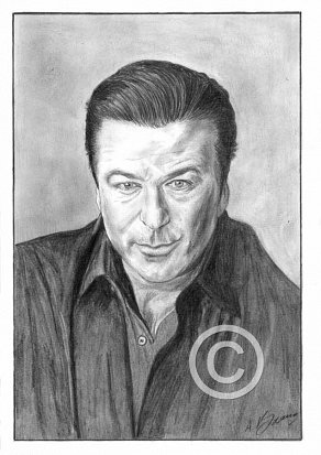 Alec Baldwin Pencil Portrait