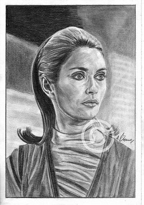 Alexandra Bastedo Pencil Portrait