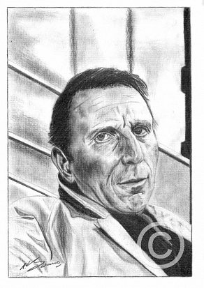 Alfred Burke Pencil Portrait