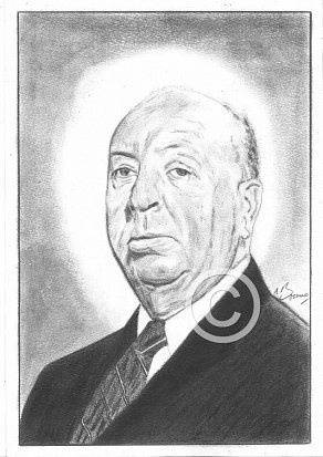 Alfred Hitchcock Pencil Portrait