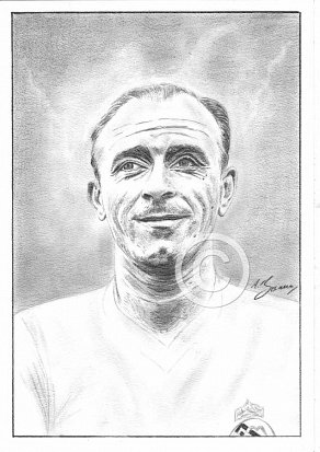Alfredo Di Stéfano Pencil Portrait