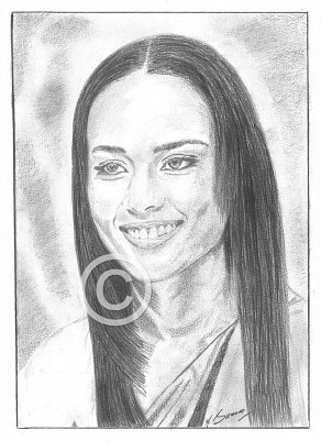 Alicia Keys Pencil Portrait