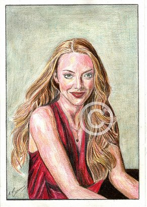 Amanda Seyfried Pencil Portrait