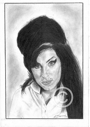 Amy Winehouse Pencil Portrait
