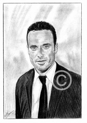 Andrew Lincoln Pencil Portrait