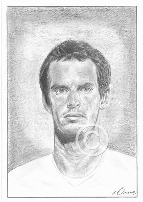 Andy Murray Pencil Portrait