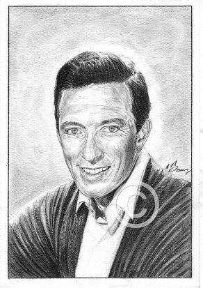 Andy Williams Pencil Portrait