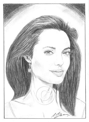 Angelina Jolie Pencil Portrait