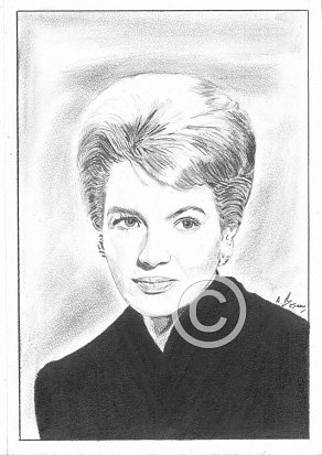 Angie Dickinson Pencil Portrait