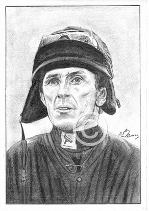 AP McCoy Pencil Portrait