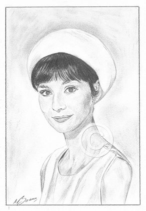 Audrey Hepburn Pencil Portrait