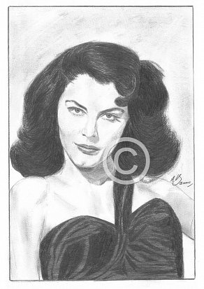 Ava Gardner Pencil Portrait