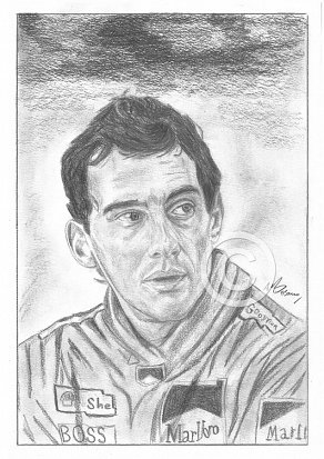 Ayrton Senna Pencil Portrait
