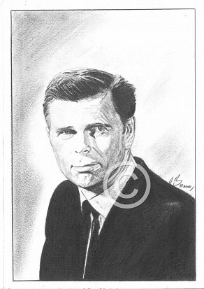 Barry Nelson Pencil Portrait by Antonio Bosano