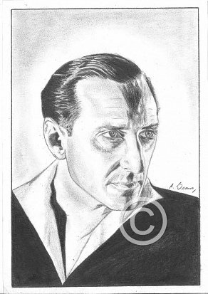 Basil Rathbone Pencil Portrait