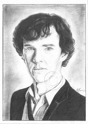 Benedict Cumberbatch Pencil Portrait