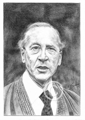 Bernard Hepton Pencil Portrait