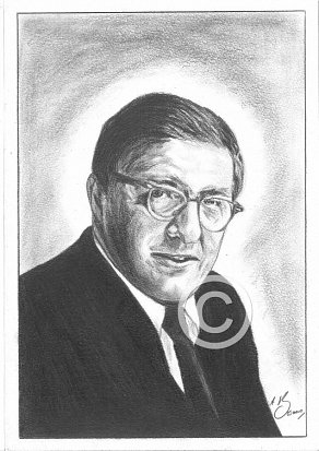 Bernard Herrmann Pencil Portrait