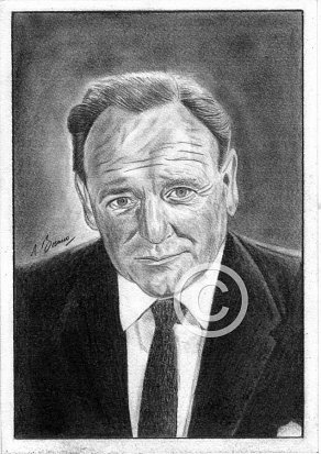 Bernard Lee Pencil Portrait