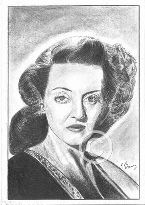 Bette Davis Pencil Portrait