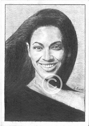 Beyonce Pencil Portrait