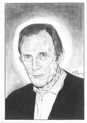 Bill Nighy Pencil Portrait