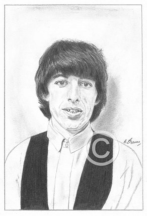 Bill Wyman Pencil Portrait