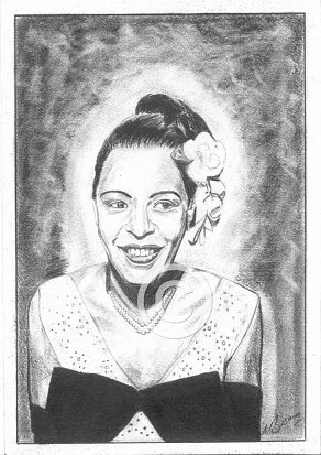 Billie Holiday Pencil Portrait