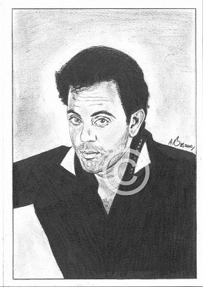 Billy Joel Pencil Portrait