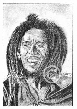 Bob Marley Pencil Portrait