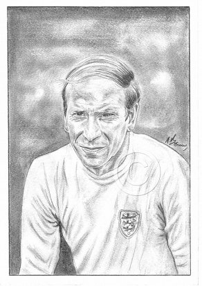 Bobby Charlton Pencil Portrait