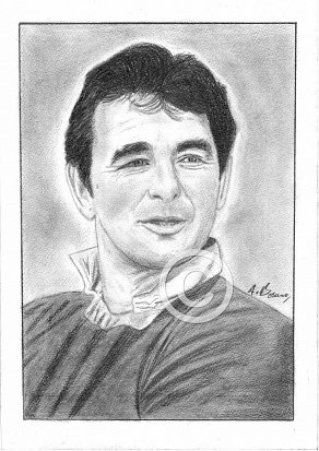 Brian Clough Pencil Portrait