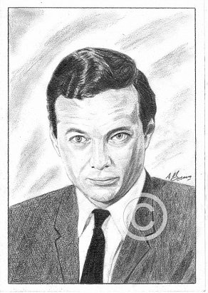Brian Epstein Pencil Portrait