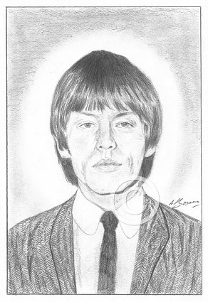 Brian Jones Pencil Portrait