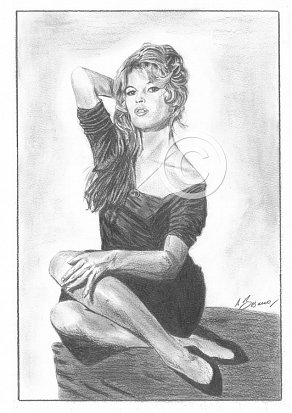 Brigitte Bardot Pencil Portrait