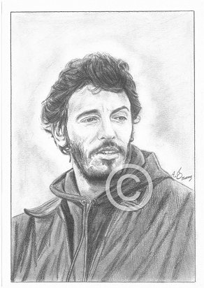 Bruce Springsteen Pencil Portrait