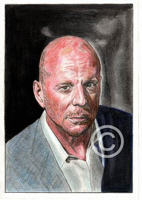 Bruce Willis Pencil Portrait