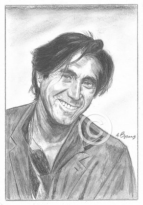 Bryan Ferry Pencil Portrait