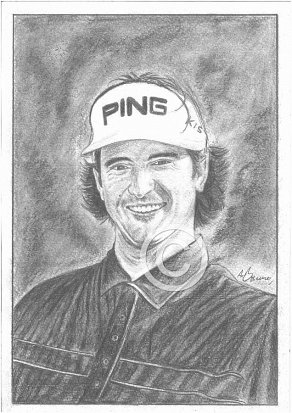 Bubba Watson Pencil Portrait
