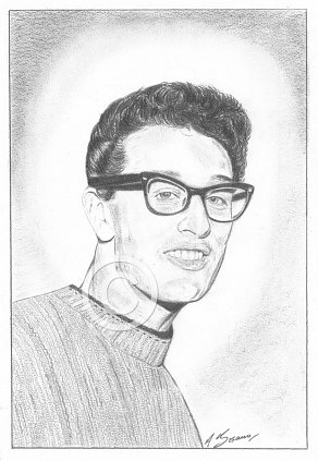 Buddy Holly Pencil Portrait