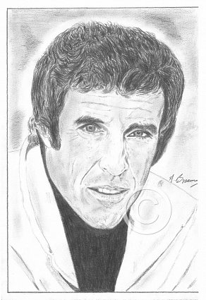 Burt Bacharach Pencil Portrait