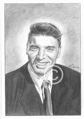 Burt Lancaster Pencil Portrait