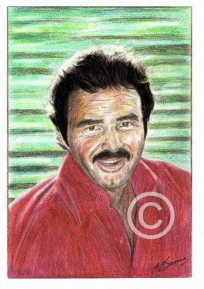 Burt Reynolds Pencil Portrait
