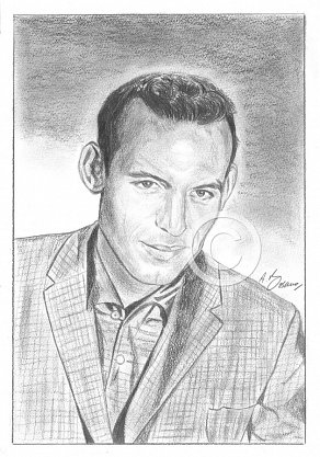 Carl Perkins Pencil Portrait